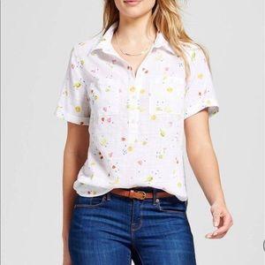Merona Fruit Print Button-Up Shirt
